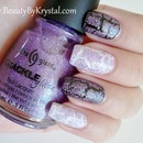 China Glaze Crackle Glitters - Luminous Lavender