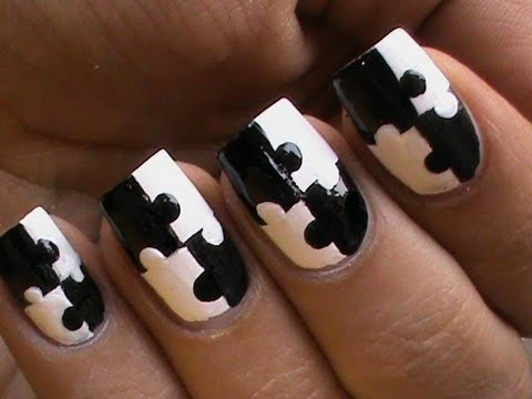 Most popular nails videos beautylish puzzle nails art designs matte nail polish designs black and white short long nails solutioingenieria Image collections