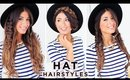 3 Cute Hat Hairstyles | Luxy Hair