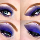 Brightly Blue Smokey eyes