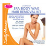 Sally Hansen Lavender Spa Body Wax Hair Removal Kit