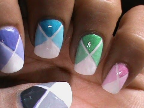 Color Blocking Nail Polish Designs For Beginners To Do At Home Easy Striping Tape Tutorial Video