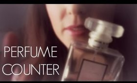 ASMR PERFUME COUNTER ROLE PLAY ~ Up Close Whispering & Soft Sounds ~