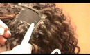 Curly u part wig using a glue gun