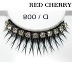 Red Cherry Shimmer & Feather Lashes - D008
