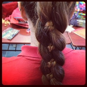 This braid is like a braid-ception. Its a little braid inside another braid