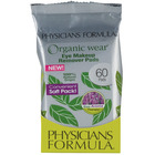 Physicians Formula Organic Wear 100% Natural Origin Eye Makeup Remover Pads Soft Pack