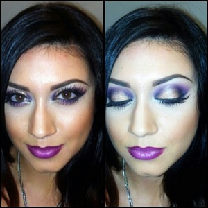 Monochromatic purple look with the new viva glam nicki 2 lipstick! instagram: @madeup_mama