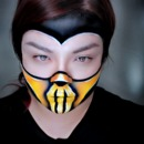 Scorpion Mortal Kombat Makeup
