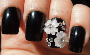 Full details: http://www.thepolishedmommy.com/2012/10/bling-on-black.html