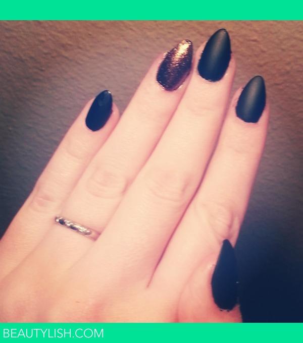 Matte Almond Acrylic Nails