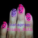 Girly Animal Print Nails