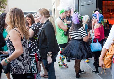 Guests at the Beautylish/IMATS LA event