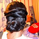 Twisted Sidebun Updo