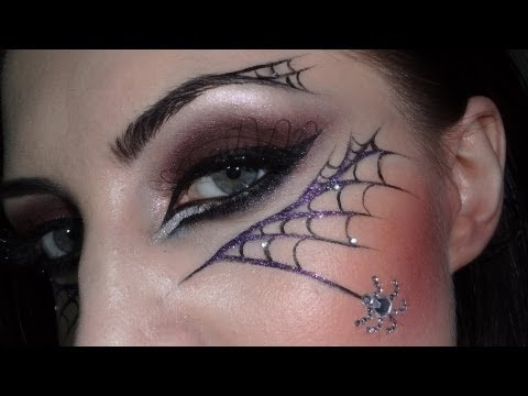 Макияж паутина на хэллоуин