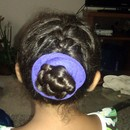 French Braided Princess Bun