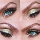 Golden Cut Crease for the Holidays