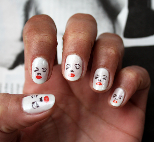 Marilyn Monroe Nail Art Decals | Shelby R.\'s Photo | Beautylish