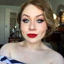 Classic Thick Black Winged Eyeliner and Ruby Red Lips Makeup Tutorial