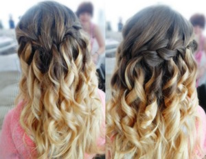 waterfall braid for prom