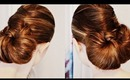 Sleek Criss-Cross Bun Hair Style Turorial