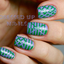 Reverse striping tape nails