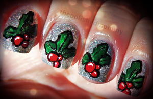 http://www.thepolishedmommy.com/2012/12/glistening-holly.html