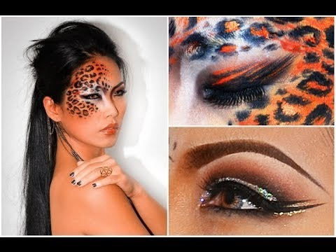 leopard halloween makeup look
