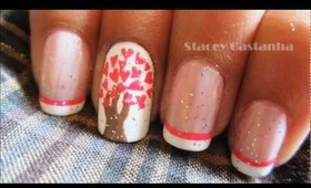 A tree of love nail art:)