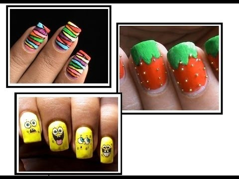3 Nail Designs For Kids To Do At Home Youtube Easy Do It Yourself Step By Step Beginners Art