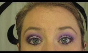 Smokey Purple with Glitter