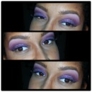 purple glitter cut crease