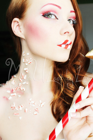 Peppermint inspired makeup for inspiration for a past candy contest I just hosted! Find me on Facebook: www.facebook.com/madeulookbylex Alexys Fleming ©