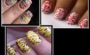 Spun sugar nail art-- How to do spun sugar nails designs pattern technique easy nail tutorial video