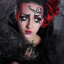 Gothic Rose Tim Burton-Inspired Makeup