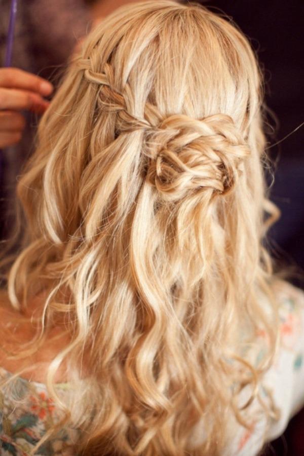Прическа французская с длинными волосами