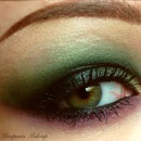 Purple and Green Smokey Eye