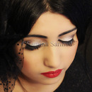 Vintage Look-Nude Smokey Eyes, Flawless Foundation & Red Lips