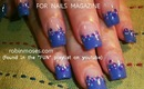 NAIL ART FOR BEGINNERS: dots on a french for NAILS magazine: robin moses nail art tutorial 508