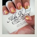 Gold Glittery Tips by Tiffany