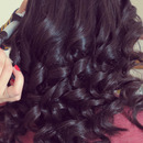 Curls with a curling wand