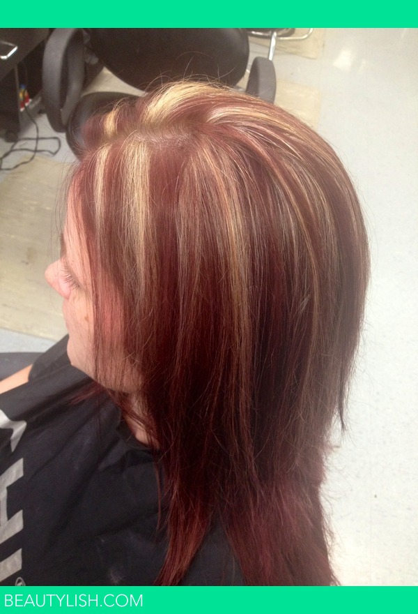 Red hair and blonde highlights alexis w s photo beautylish