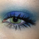 Festive Blue and Emerald Makeup