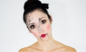 Cracked Doll Last Minute Halloween Tutorial