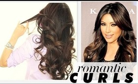 ★ KIM KARDASHIAN BIG CURLS TUTORIAL | VALENTINE'S DAY HAIRSTYLES  | HOW TO BLOW-DRY + CURL YOUR HAIR