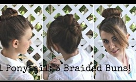 BACK TO SCHOOL HAIRSTYLES: 1 Ponytail, 3 Braided Buns