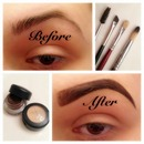 before & after brows