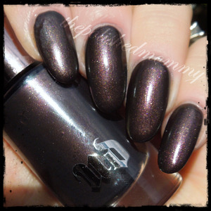 Swatch and review on the blog>>> http://www.thepolishedmommy.com/2013/12/urban-decay-blackheart.html  #purchasedbyme