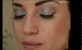 glittered lashes make up