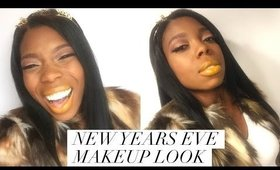 New Years Eve Makeup | Bold Yellow Lips